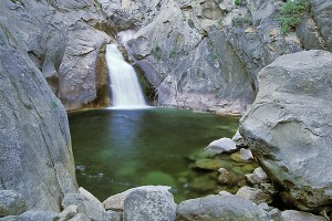CA Kings Canyon NP waterfall