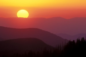 Clingman Dome sunset (h) cr