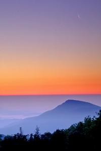 VA SNP dawn and crescent moon